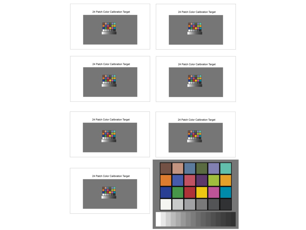 Small Color - Image Quality Test Chart